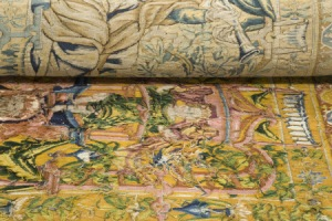 The reverse of the tapestries reveal their true colours