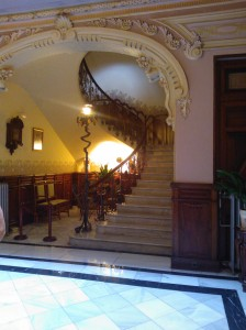 The central staircase
