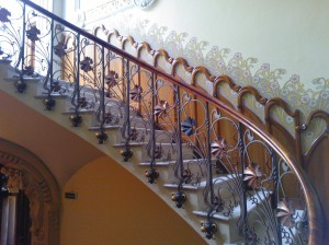 A close up of the Stair Case